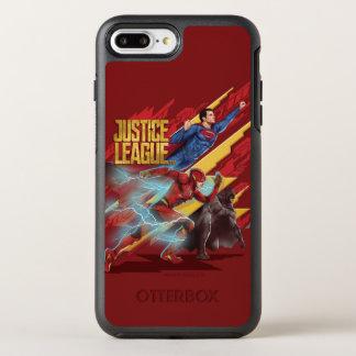 Funda OtterBox Symmetry Para iPhone 8 Plus/7 Plus Superhombre de la liga de justicia el |, flash, y