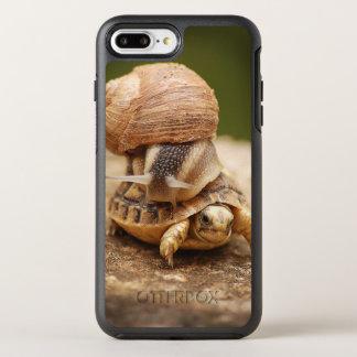 Funda OtterBox Symmetry Para iPhone 8 Plus/7 Plus Tortuga del bebé del montar a caballo del caracol