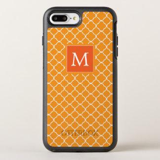 Funda OtterBox Symmetry Para iPhone 8 Plus/7 Plus Trébol anaranjado del monograma el |