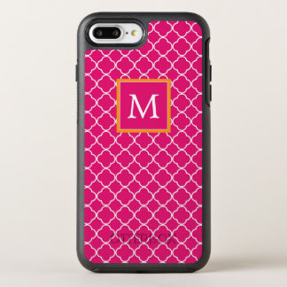Funda OtterBox Symmetry Para iPhone 8 Plus/7 Plus Trébol rosado del monograma el |