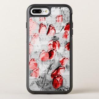 Funda OtterBox Symmetry Para iPhone 8 Plus/7 Plus Tulipanes rojos gráficos