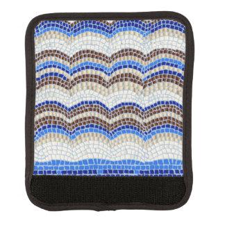 Funda Para Asa De Maleta Abrigo azul de la manija del equipaje del mosaico