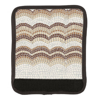 Funda Para Asa De Maleta Abrigo beige de la manija del equipaje del mosaico