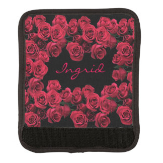 Funda Para Asa De Maleta Abrigo rojo de la manija del equipaje de las