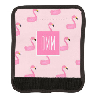 Funda Para Asa De Maleta Abrigo rosado de la manija del equipaje del
