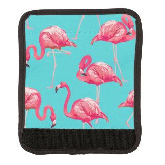 Funda Para Asa De Maleta Pájaros rosados del flamenco en fondo de la