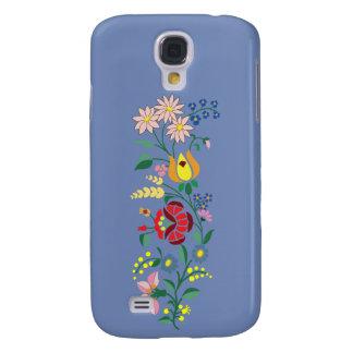Funda Para Galaxy S4 Bordado de la flor de la galaxia S4- de Samsung