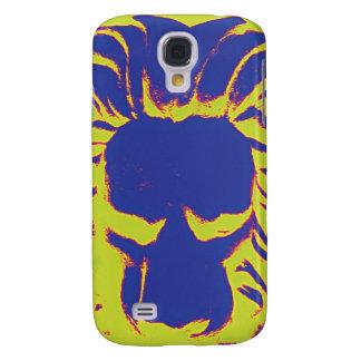 Funda Para Galaxy S4 Caja del teléfono del amarillo del amd de la