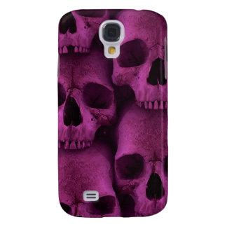 Funda Para Galaxy S4 Caja púrpura 2 de la mota de los cráneos