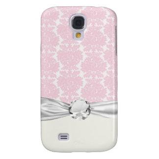 Funda Para Galaxy S4 damasco del flourish suavemente del rosa y del