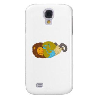 Funda Para Galaxy S4 Dibujo del globo del mapa de Oriente Medio de la