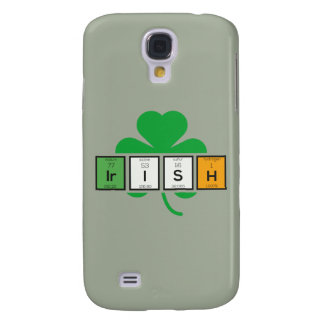 Funda Para Galaxy S4 Elemento químico Zz37b del cloverleaf irlandés