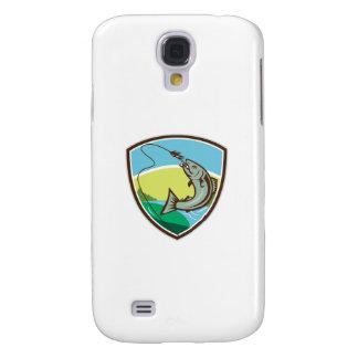 Funda Para Galaxy S4 Escudo penetrante del señuelo del gancho de la