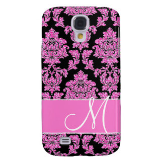 Funda Para Galaxy S4 Modelo del damasco del purpurina de las rosas