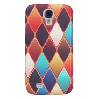 Funda Para Galaxy S4 Mosaico anaranjado del diamante