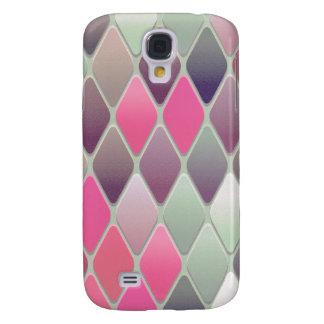Funda Para Galaxy S4 Mosaico rosado del diamante
