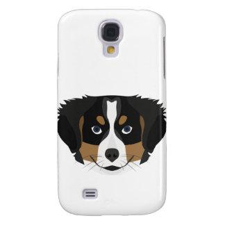 Funda Para Galaxy S4 Perro de montaña de Bernese del ilustracion