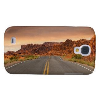 Funda Para Galaxy S4 Puesta del sol del viaje por carretera