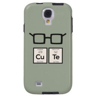 Funda Para Galaxy S4 Vidrios lindos Zwp34 del empollón del elemento