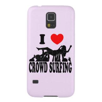 Funda Para Galaxy S5 Amo a la muchedumbre que practica surf (hembra)