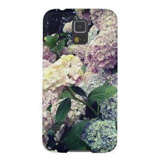 Funda Para Galaxy S5 Caja azul rosada de los flores del Hydrangea de