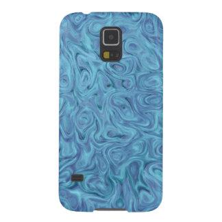 Funda Para Galaxy S5 Caja de la galaxia S5 de Samsung - el líquido azul