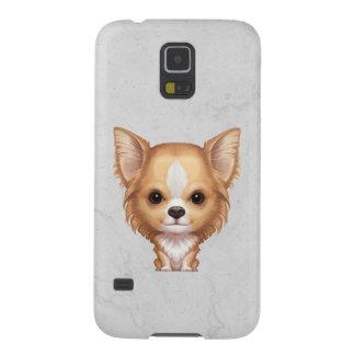 Funda Para Galaxy S5 Chihuahua beige y blanca de pelo largo