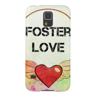 Funda Para Galaxy S5 Corazón adoptivo de la acuarela del amor