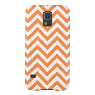 Funda Para Galaxy S5 El zigzag anaranjado y blanco raya el modelo de