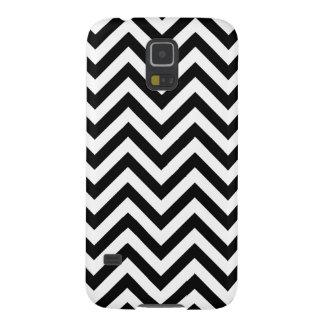 Funda Para Galaxy S5 El zigzag blanco y negro raya el modelo de Chevron