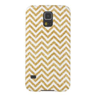 Funda Para Galaxy S5 El zigzag del brillo del oro blanco raya el modelo