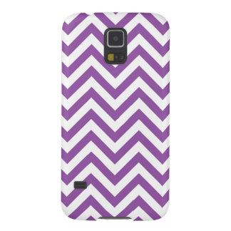 Funda Para Galaxy S5 El zigzag púrpura y blanco raya el modelo de