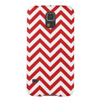 Funda Para Galaxy S5 El zigzag rojo y blanco raya el modelo de Chevron