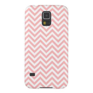 Funda Para Galaxy S5 El zigzag rosado y blanco raya el modelo de