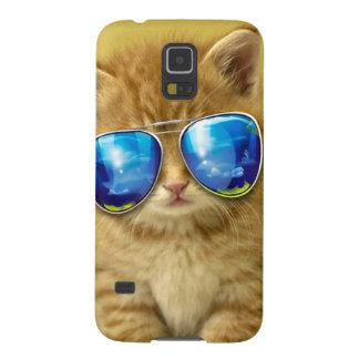 Funda Para Galaxy S5 Gafas de sol del gato - amor del gato - mascota -