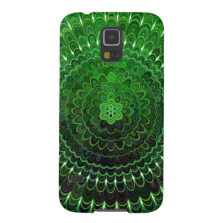 Funda Para Galaxy S5 Mandala verde de la flor