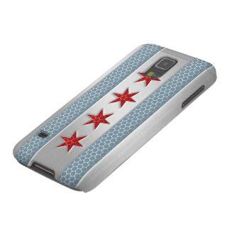 Funda Para Galaxy S5 Mirada cepillada bandera del metal de Chicago