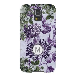 Funda Para Galaxy S5 Monograma floral del jardín de la profusión