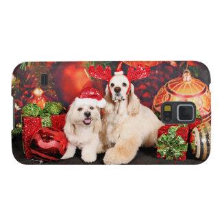 Funda Para Galaxy S5 Navidad - cocker - Toby, Havanese - poco T