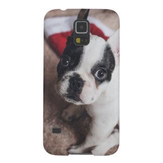 Funda Para Galaxy S5 Perro de Papá Noel - barro amasado divertido -