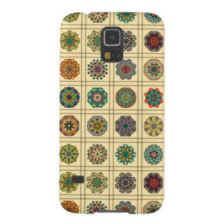 Funda Para Galaxy S5 Remiendo del vintage con los elementos florales de