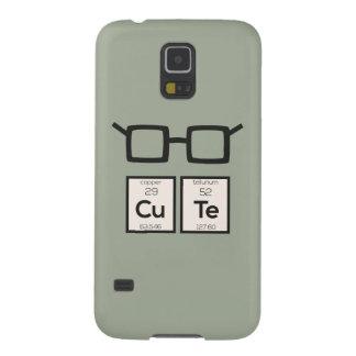 Funda Para Galaxy S5 Vidrios lindos Zwp34 del empollón del elemento