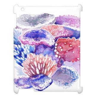 Funda Para iPad 2, 3, 4 Caso del iPad de la acuarela del arrecife de coral