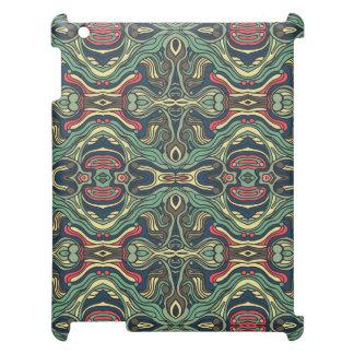 Funda Para iPad 2, 3, 4 Diseño rizado dibujado mano colorida abstracta del