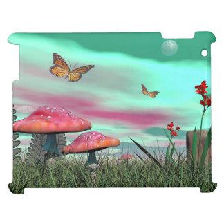 Funda Para iPad 2, 3, 4 Jardín de la fantasía - 3D rinden