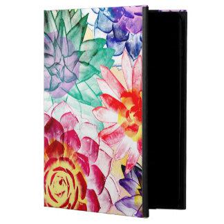 Funda Para iPad Air 2 Acuarela suculenta colorida del bonito de las