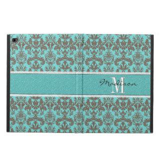 Funda Para iPad Air 2 Azules turquesas verde azuladas y damasco de