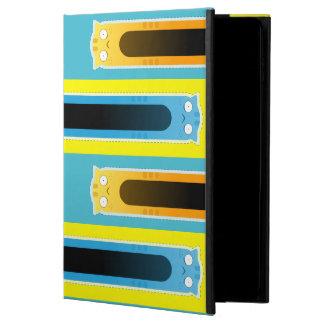 Funda Para iPad Air 2 Caja azul del iPad del modelo rayado del gato del
