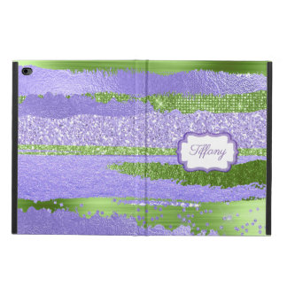 Funda Para iPad Air 2 Caja púrpura y verde del aire 2 del iPad del Glitz