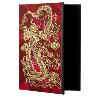 Funda Para iPad Air 2 Dragón grabado en relieve del oro en la impresión